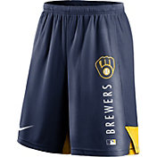 Nike Men's Milwaukee Brewers Navy Authentic Collection Training Short