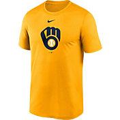 Nike Men's Milwaukee Brewers Gold Logo Legend T-Shirt