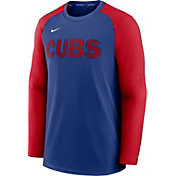 Nike Men's Chicago Cubs Blue Authentic Collection Pre-Game Long Sleeve T-Shirt