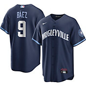 Nike Men's Chicago Cubs Javier Báez #9 Navy 2021 City Connect Cool Base Jersey