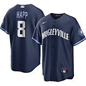 Nike Men's Chicago Cubs Ian Happ #8 Navy 2021 City Connect Cool Base Jersey