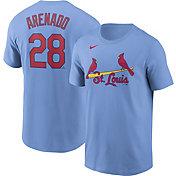 Nike Men's St. Louis Cardinals Nolan Arenado #28 Powder Blue T-Shirt
