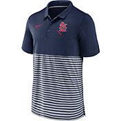 Nike Men's St. Louis Cardinals Stripe Navy Polo