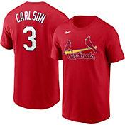 Nike Men's St. Louis Cardinals Dylan Carlson #3 Red T-Shirt