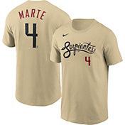 Nike Men's Arizona Diamondbacks Ketel Marte #4 Gold 2021 City Connect T-Shirt