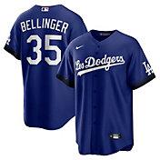 Nike Men's Los Angeles Dodgers Cody Bellinger #35 Royal 2021 City Connect Cool Base Jersey