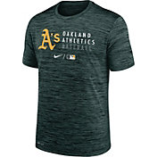 Nike Men's Oakland Athletics Green Authentic Collection Velocity Practice T-Shirt