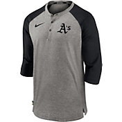 Nike Men's Oakland Athletics Gray  ¾ Flux Hoodie