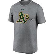 Nike Men's Oakland Athletics Grey Logo Legend T-Shirt