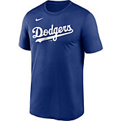 Nike Men's Los Angeles Dodgers Dodger Blue Wordmark Legend T-Shirt