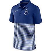 Nike Men's Los Angeles Dodgers Stripe White Polo