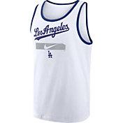 Nike Men's Los Angeles Dodgers White Cotton Tank Top
