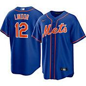 Nike Men's New York Mets Francisco Lindor #12 Cool Base Alternate Replica Jersey