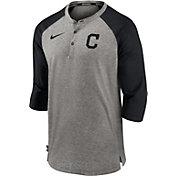 Nike Men's Cleveland Indians Gray  ¾ Flux Hoodie