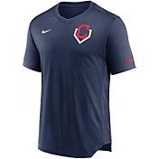 Nike Men's Cleveland Indians Navy V-Neck Fashion Top