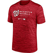 Nike Men's Washington Nationals Red Authentic Collection Velocity Practice T-Shirt