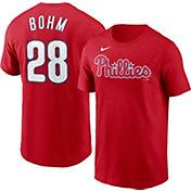 Nike Men's Philadelphia Phillies Alec Bohm #28 Red T-Shirt