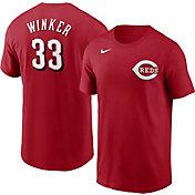 Nike Men's Cincinnati Reds Jesse Winker #33 Red T-Shirt