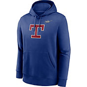 Nike Men's Texas Rangers Blue Cooperstown Club Pullover Hoodie