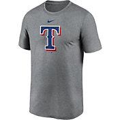 Nike Men's Texas Rangers Grey Logo Legend T-Shirt