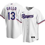 Nike Men's Replica Texas Rangers Joey Gallo #13 Cool Base White Jersey