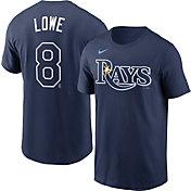 Nike Men's Tampa Bay Rays Brandon Lowe #8 Navy T-Shirt