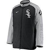 Nike Men's Chicago White Sox Grey Authentic Collection Dugout Full-Zip Jacket