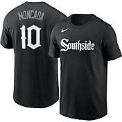 Nike Men's Chicago White Sox Yoán Moncada #10 Black 2021 City Connect T-Shirt