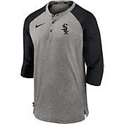 Nike Men's Chicago White Sox Gray Flux Raglan Three-Quarter Sleeve Shirt
