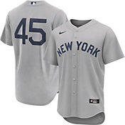 Nike Men's New York Yankees Gerrit Cole #45 Grey 2021 Field of Dreams Cool Base Jersey