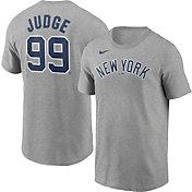 Nike Men's New York Yankees Aaron Judge #99 Grey T-Shirt
