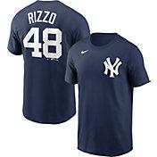 Nike Men's New York Yankees Anthony Rizzo #48 Navy T-Shirt