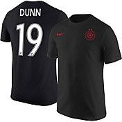 Nike Portland Thorns Crystal Dunn #19 Black T-Shirt