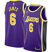Jordan Men's Los Angeles Lakers LeBron James #6 Purple Dri-FIT Statement Edition Jersey