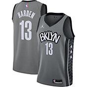Nike Men's Brooklyn Nets James Harden #13 Gray Dri-FIT Statement Jersey