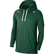 Nike Men's Baylor Bears Green Lightweight Pullover Hoodie