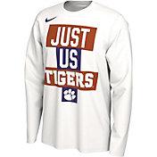 Nike Men's Clemson Tigers 'Just Us' Bench Long Sleeve T-Shirt