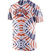 Nike Men's Clemson Tigers White Tie-Dye Festival T-Shirt
