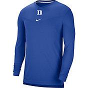 Nike Men's Duke Blue Devils Duke Blue Football Sideline Coach Dri-FIT UV Long Sleeve T-Shirt