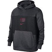 Nike Men's Florida State Seminoles Grey Dri-FIT Spotlight Pullover Hoodie