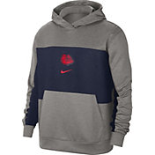 Nike Men's Gonzaga Bulldogs Grey Dri-FIT Spotlight Pullover Hoodie