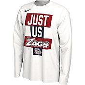 Nike Men's Gonzaga Bulldogs 'Just Us' Bench Long Sleeve T-Shirt