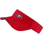 Nike Men's Georgia Bulldogs Red Aero Football Sideline Visor