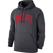 Nike Men's Ohio State Buckeyes Gray Basketball Club Pullover Fleece Hoodie