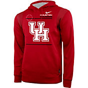 Nike Men's Houston Cougars Red Therma Performance Pullover Hoodie