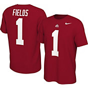 Nike Men's Ohio State Buckeyes Justin Fields #1 Scarlet Football Jersey T-Shirt