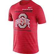 Nike Men's Ohio State Buckeyes Scarlet Dri-FIT Velocity Football Sideline T-Shirt