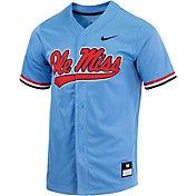 Nike Men's Ole Miss Rebels Blue Dri-FIT Replica Baseball Jersey