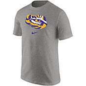 Nike Men's LSU Tigers Grey Core Cotton Logo T-Shirt