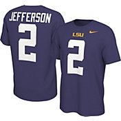 Nike Men's LSU Tigers Justin Jefferson #2 Purple Football Jersey T-Shirt